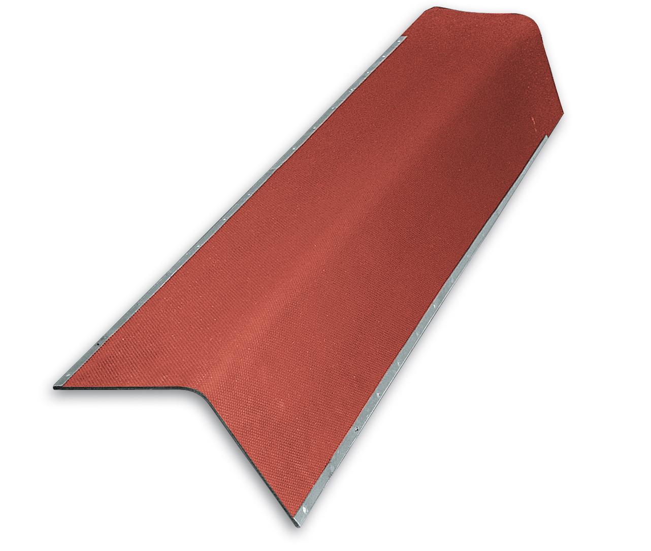 Giebelwinkel f/ür Bitumenwellplatten gr/ün mit Metallkante 850 mm