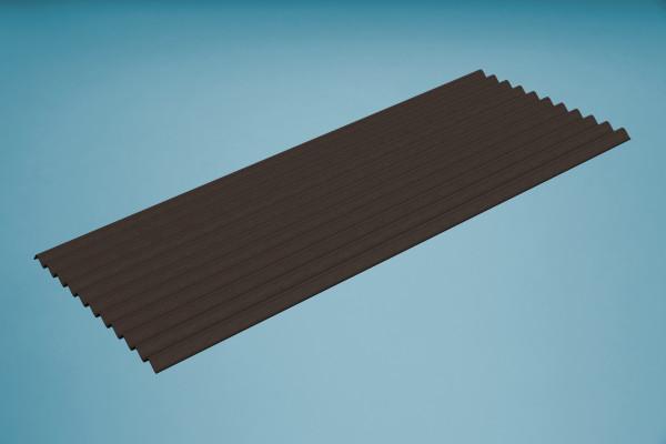 Bitumenwellplatten braun - 2000 x 830 mm