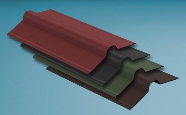 Firsthauben für Bitumenwellplatten