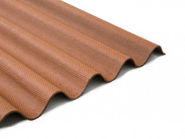 Bitumenwellplatten Set braun