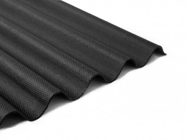 Bitumenwellplatten Set schwarz