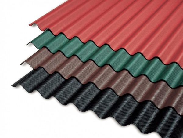 Bitumen Wellplattenset mit Nägel - Verschiedene Farben